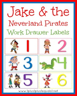 Pirate Work Drawer Labels