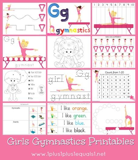 Girls Gymnastics Printables