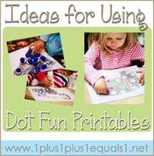 Ideas for Using Dot Fun Printables