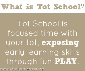 What is Tot School ~ exposing early learning skills through play.