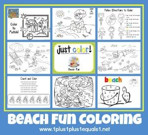 Beach Fun Coloring