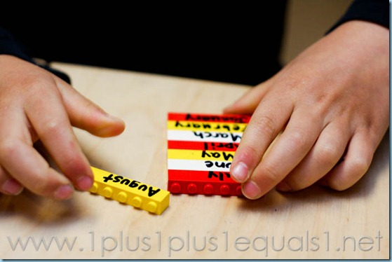Days of the Week and Months of the Year with Legos -3258