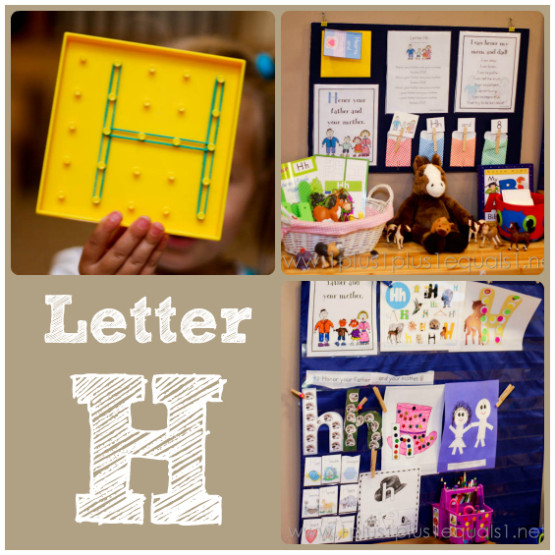Home Preschool Letter H