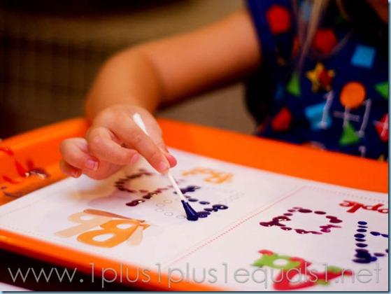 Q Tip Painting ABC Printables