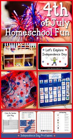 4th of July Homeschool Fun