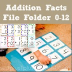 Addition Facts File Folder