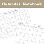Calendar Notebook Printables