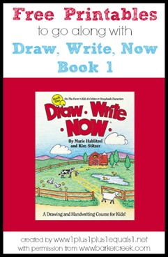Draw, Write, Now Book 1 Printables