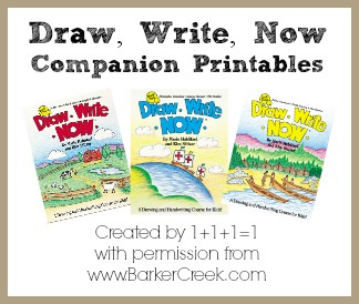 Draw, Write, Now Printables