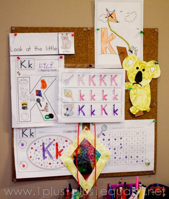 Preschool At Home Letter K 1 1 1 1