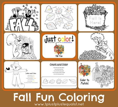 Fall Fun Coloring Printables