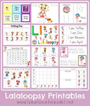 Free Lalaloopsy Printables