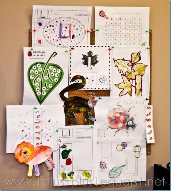 Home Preschool Letter L -7458