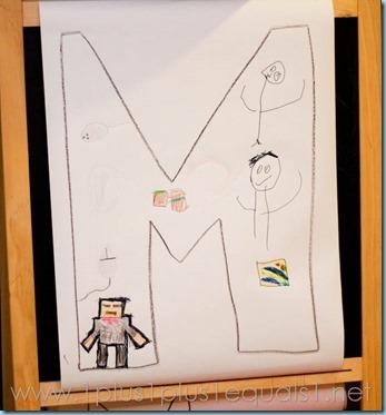 Home Preschool Letter M -8734