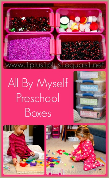 All By Myself Preschool Boxes October 2013