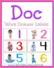 Doc Work Drawer Labels