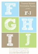 Theme Printables F through J