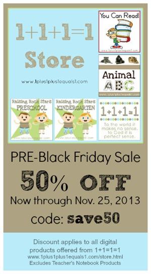 Pre Black Friday Sale 2013