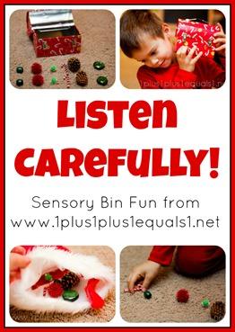 Listen Carefully Sensory Bin Game