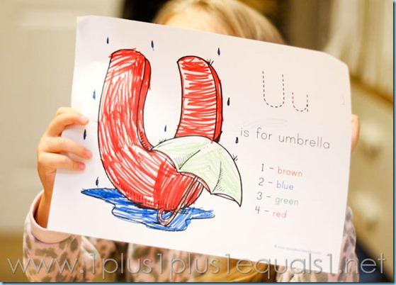 Home Preschool  Letter U -3659