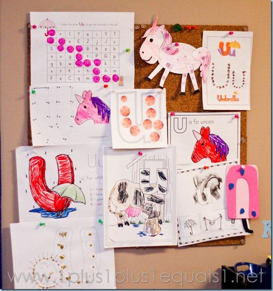Home Preschool Letter U -3751