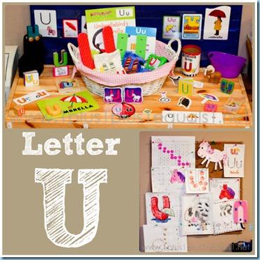 Home Preschool Letter U