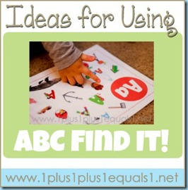 Ideas for Using ABC Find It!
