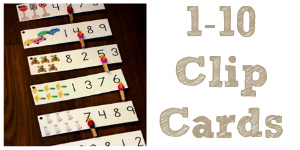 Preschool Math Printable Number Clip Cards