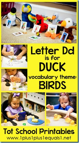 Tot School Printables D is for Duck