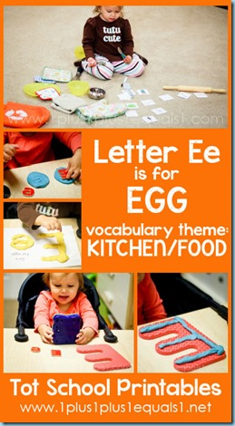Tot School Printables E is for Egg