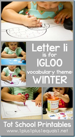 Tot School Printables I is for Igloo