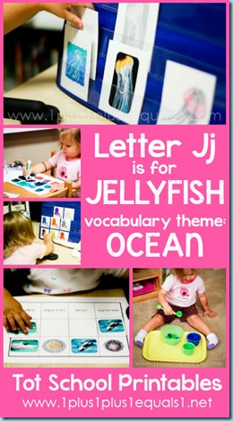 Tot School Printables J is for Jellyfish