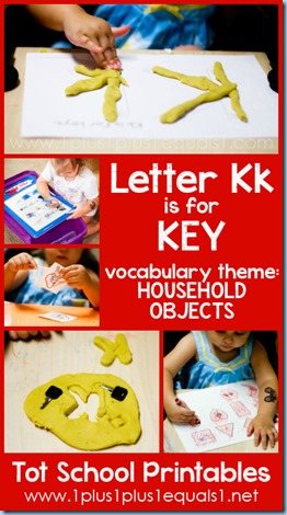 Tot School Printables K is for Key