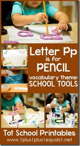 Tot School Printables P is for Pencil
