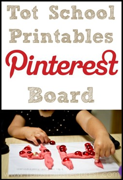 Tot School Printables Pinterest Board
