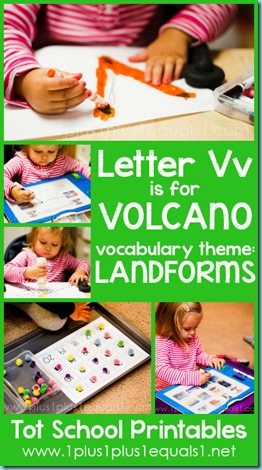 Tot School Printables V is for Volcano