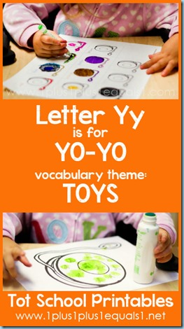 Tot School Printables Y is for Yo Yo