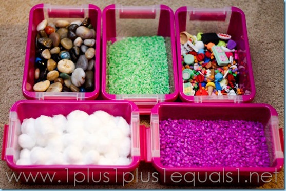 All By Myself Preschool Boxes - Mini Sensory Bins