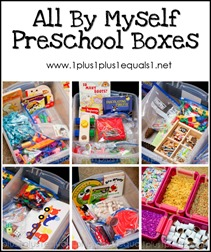 All By Myself Preschool Boxes Aug 2013