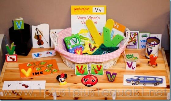 Home Preschool Letter V -4383
