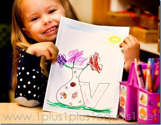 Home Preschool Letter V -5104