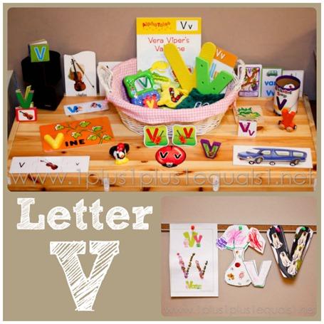 Home Preschool Letter V