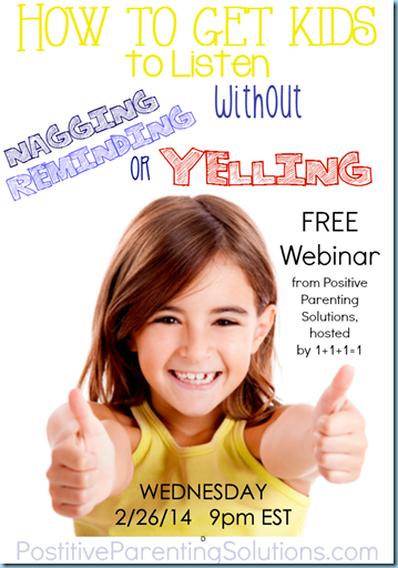 Positive Parenting Solutions Free Webinar