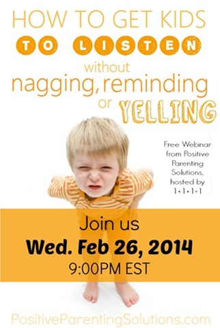 Positive Parenting Solutions Webinar February 26, 2014