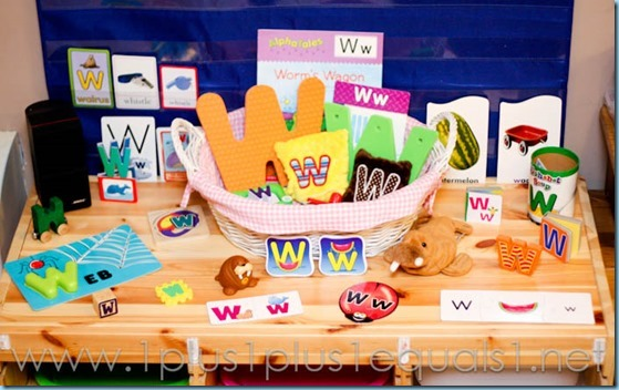 Home Preschool Letter W -5310