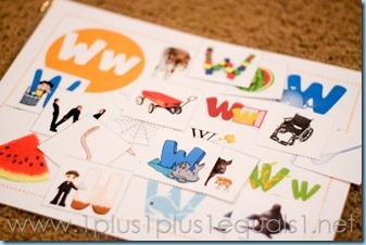 Home Preschool Letter W -5550