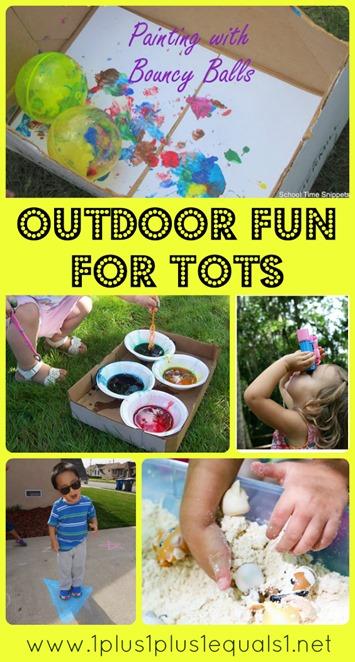 Outdoor Tot School Fun