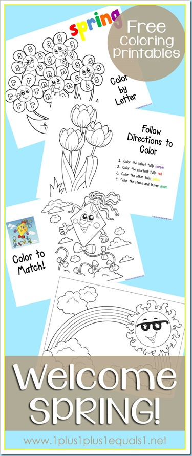 Spring Fun Coloring Printables