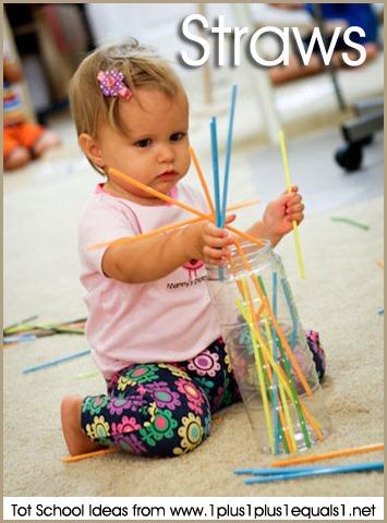 Tot School Straws 12-18 Months