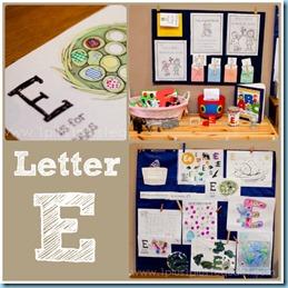 Home Preschool Letter E